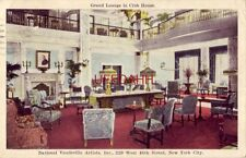 GRAND LOUNGE IN CLUB HOUSE of NATIONAL VAUDEVILLE ARTISTS, NEW YORK CITY 1930