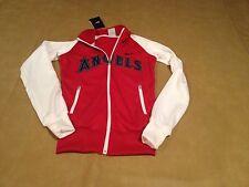NWT Nike Anaheim Angels MLB W Track Jacket White Red XS Womens Zip Up Long Sleev