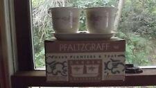 Pfaltzgraff Garden Coll. Trousseau Herb Planters -w- Tray -Mint In Box- Mfg USA