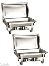 NEW STAINLESS STEEL CHAFER 2 PACK CHAFING Dish Sets FULL 8 QT After REBATE $69