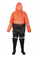 WATERPROOF OVERALL FOR DRAINING CANAL'S WORKERS with BOOTS XXL-58/10,5 UK- 46 EU