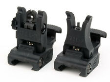ARMS #71L-FR Back-Up Sights Set Front and Rear Flip-Open Polymer BUIS 5.56/223