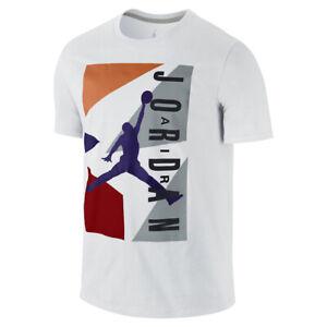 Nike Air Jordan Retro 7 VII '92 Color Blocked T-Shirt White, Large NWT