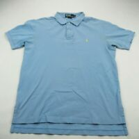 Polo Ralph Lauren Mens Shirt Polo Cotton Large Short Sleeve Baby Blue Pony