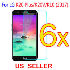 6x Clear LCD Screen Protector Guard Cover Film For LG K20 Plus / K20V /K10(2017)