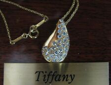 Diamond Teardrop Pendant and Chain Elsa Peretti for Tiffany & Co.