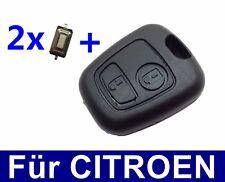 2T Auto Schlüssel Gehäuse für Peugeot 106 206 207 306 307 406 806 + 2x Taster