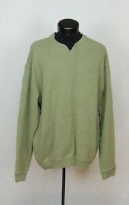 Tommy Bahama Shirt Long Sleeve Pullover Sweater Sweatshirt V-Neck Green Men TB L