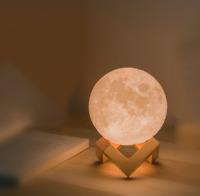 18CM 3D Moon LED Night Light Moonlight Magical gift Moon Lamp+wooden magnet Base