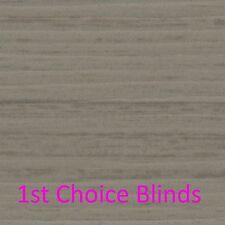 MADE TO MEASURE GREY Faux Wooden Venetian Blinds Waterproof Plastic Wood Effect