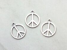 10x Anhänger Peace Zeichen 16x14mm Charms Frieden Schmuck Deko Armband Basteln