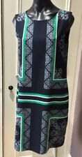 Jane Lamerton Dress Size 8 Shift Navy Green White As New lovley