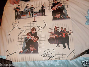 THE BEATLES WALLPAPER ORIGINAL 1960's  MINT COLLECTABLE ALL PATTERNS ON 1 PIECE