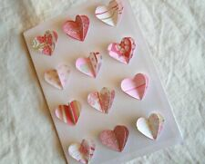 Valentine's Day Card Handmade with many hearts folding by paper