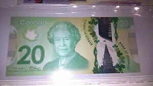 QUEEN ELIZABETH $20 twenty dollars note rare UNC