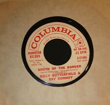 "BILLY BUTTERFIELD RAY CONNIFF 1959 INSTRUMENTAL 45 "" SOUTH OF THE BORDER """