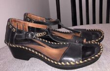 Ariat Shalimar Women's Black Western Style T Strap Wedge Sandals US 9.5 B $125