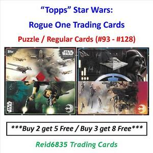 """""""Topps"""" Star Wars: Rogue One Trading Cards - Puzzle / Regular Cards (#93 - #128)"""
