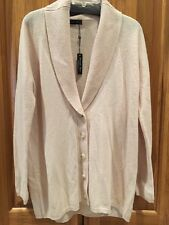 New Hannah Rose 100% Cashmere Ballet Slipper Pink Cardigan Sweater Size S/P