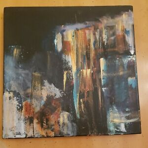 """original abstract acrylic painting on canvas 12"""" x12"""""""