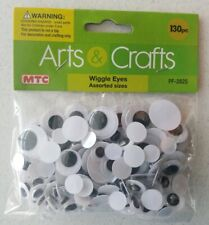 MTC 130 Piece Arts & Crafts Wiggly Eyes - Assorted Sizes