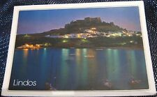Greece Lindos by night - posted 1992