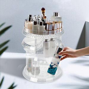 Make Up Cosmetic Organizer Storage Box Shelf 360  Degree Rotating Display Stand