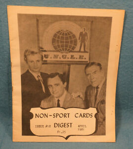 1981 Non-Sports Cards Digest #18 Man From UNCLE on Cover