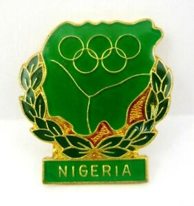 NIGERIA NOC OLYMPIC COMMITTEE PIN MEXICO OLYMPIC GAMES 1968