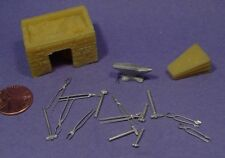 O SCALE /On3/On30 1/48 WISEMAN MODEL SERVICES O206 BLACKSMITH HEARTH WITH TOOLS