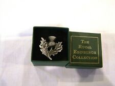 The Royal Edinburgh Collection Scottish Thistle pin brooch