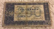 Netherlands Banknote. 2.50 Gulden. Dated 1938. Zilverbon. Series G. Pick 62.