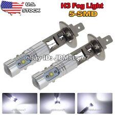 2x White H1 High Power 25W LED Daytime Running Fog Light Bulbs DC 12V-24V