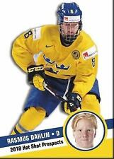 2018 Hot Shot Prospects rookie RASMUS DAHLIN Sweden Buffalo Sabres
