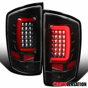 For 2002-2006 Dodge Ram 1500 2500 3500 Slick Black LED Tail Lights Brake Lamps
