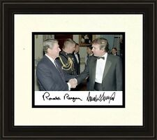 President Ronald Reagan meets Donald Trump Autograph 8 x 10 Photo Frame