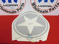 JEEP Wrangler Freedom Package Circle Star Hood Decal NEW OEM MOPAR