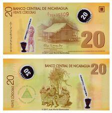 Nicaragua 20 Cordobas 2007 (2012) Polymer P-202b 1st Prefix 'A1' Banknotes UNC