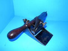 Stanley No 12 wood veneer scraper plane Type One w 1858 patent date on brass nut
