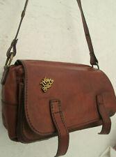 -AUTHENTIQUE sac besace THE BRIDGE  cuir  TBEG vintage bag 60's