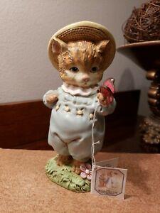 RARE Beatrix Potter Collection Tom Kitten & Butterfly Figurine Peter rabbit