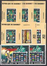 847)) Dahomey/Benin Fußball WM 74 Deutschland Blocks aus Mi 566-570**+Blk. 23B**