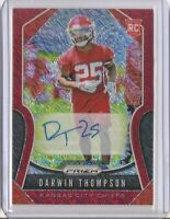 2019 PANINI PRIZM DARWIN THOMPSON RED SHIMMER FOTL ROOKIE AUTO #/25!! CHIEFS!!