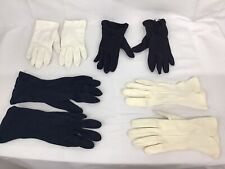 New listing 4 Pairs Vintage 1950's Ladies Gloves White & Blue Size 6 -7