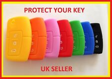 FORD GALAXY CMAX FOCUS MONDEO FLIP KEY FOB SOFT SILICONE COVER 3 BUTTON CASE 1