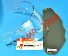 VISIERA ORIGINALE NOLAN N104 CLEAR + VISIERA PINLOCK FUME' NMS-03S  da XXS a L