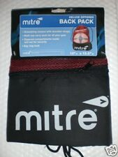 Mitre Deluxe Zippered Back Pack New