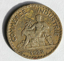 FRANCE - BON POUR 1 F - COMMERCE ET INDUSTRIE - BRONZE ALU - 1922
