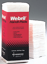 NEW UNOPENED Webril 4 x 4 Cotton Handi Pads, 100/package