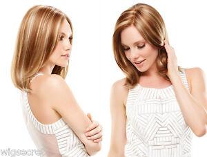 Elle Medium Lace Front Mono Jon Renau Straight Blonde Brunette Red Grey Wigs